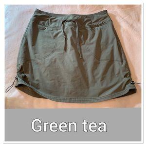 GreenTea Skort Size Med Army Green W Drawstring